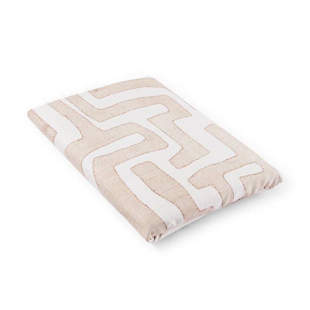 Blush Classic Kuba Cloth Crib Sheet - Bedding Default Portugal