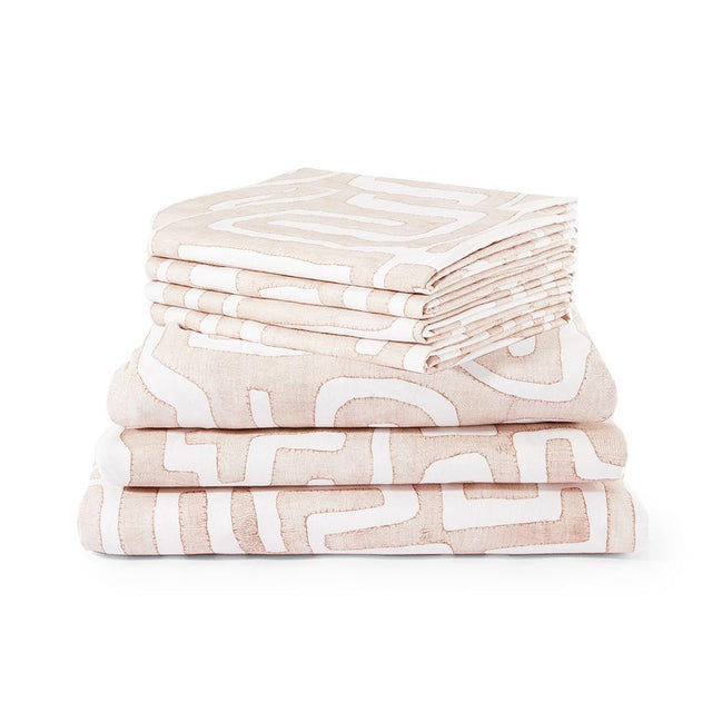 Blush Classic Kuba Cloth - Sheet Set Default Portugal