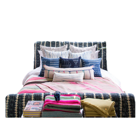 Indigo Channeled Queen Bed