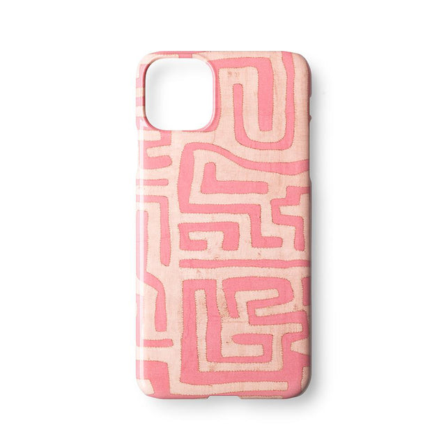 Terracotta Classic Kuba Cloth - iPhone 11 Pro Max Case Travel Accessories St. Frank