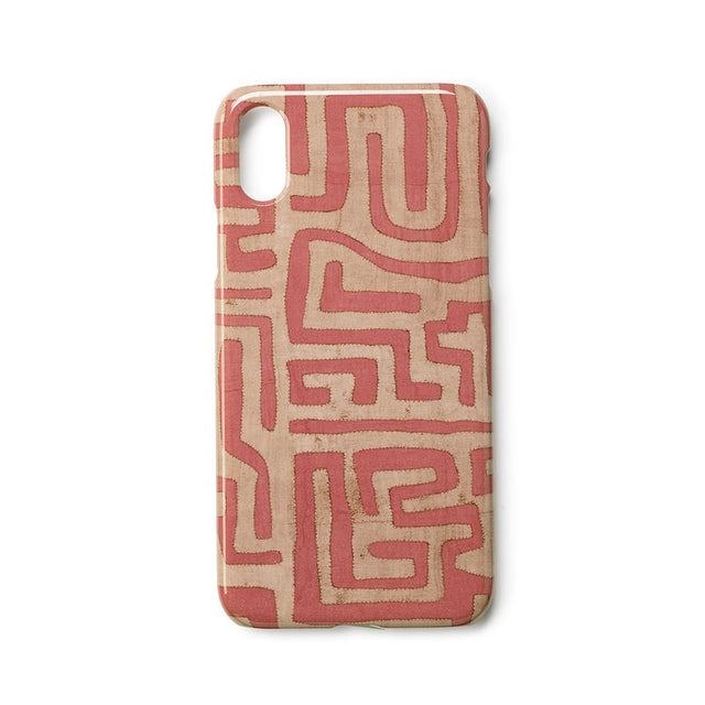 Terracotta Classic Kuba Cloth - iPhone X Case Travel Accessories St. Frank