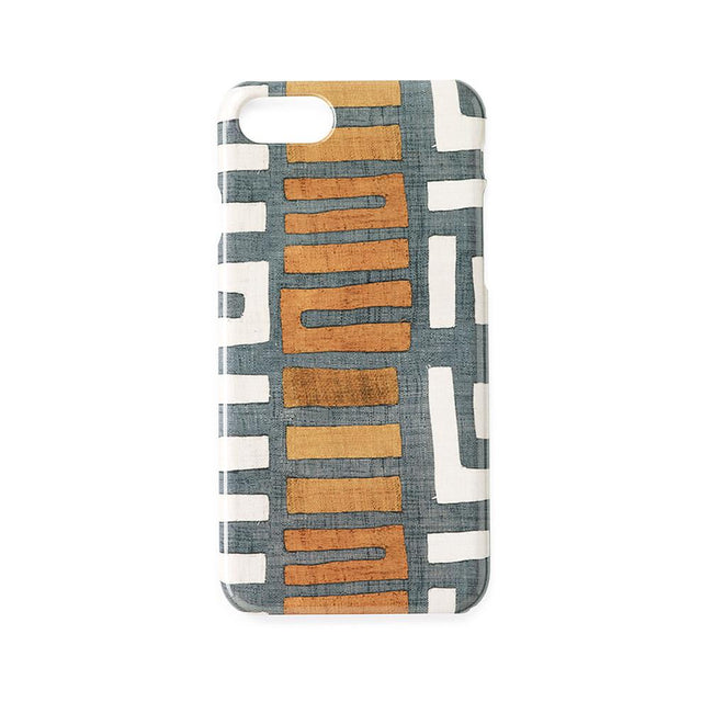 Amber Stripe Kuba Cloth - iPhone 7/8 Case