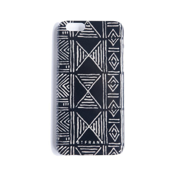Black Classic Mud Cloth - iPhone 6 Case