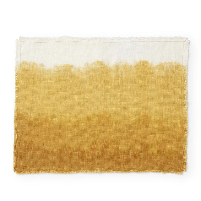 "Ochre Linen Placemat - 14"" x 18"" Default India"