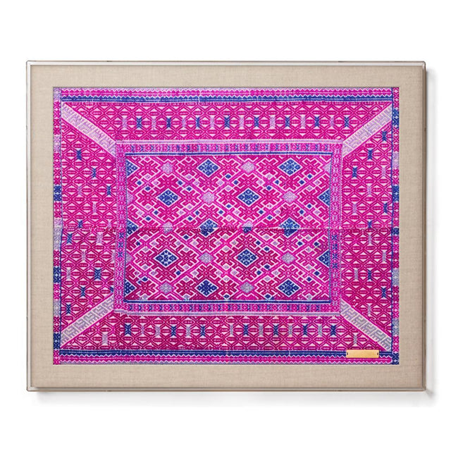 Miao IX - Accent Framed Textile