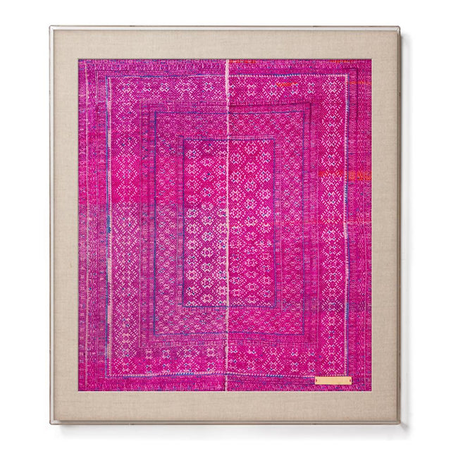 Miao VII - Accent Framed Textile