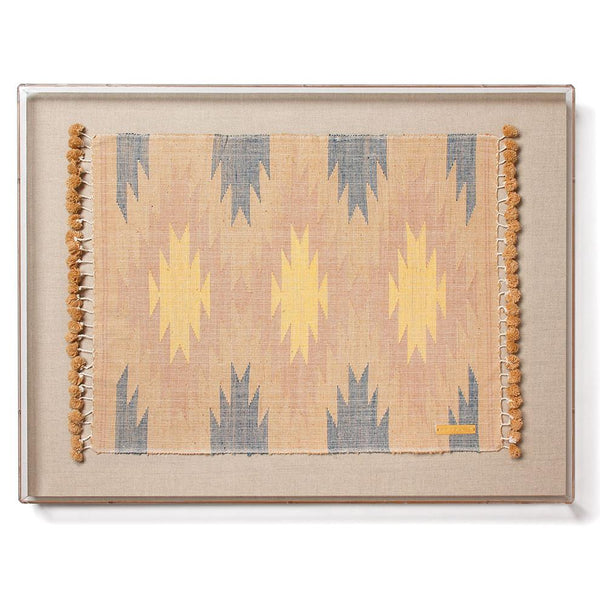 St. Frank Nam Lai Statement Textile with Acrylic Shadowbox Frame