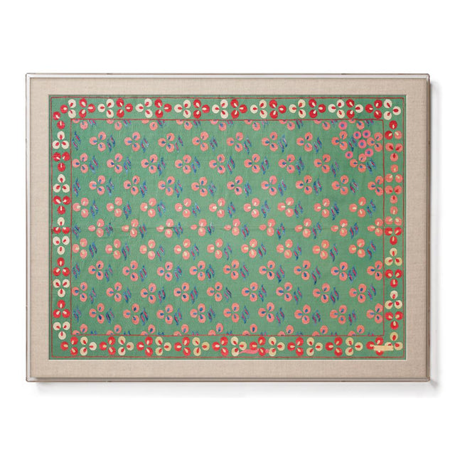 Green Chintamani - Sublime Framed Textile