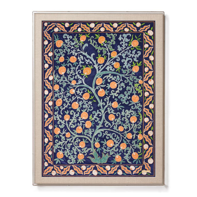 Royal Pomegranate Suzani - Sublime Framed Textile