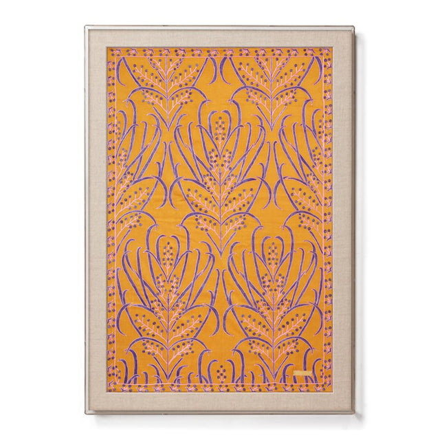 Silk Amber Vines Suzani - Sublime Framed Textile
