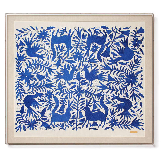 Blue Otomí - Sublime Framed Textile Textile Mexico