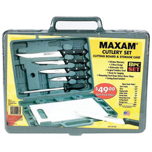 Load image into Gallery viewer, Maxam® Knife Set with Cutting Board