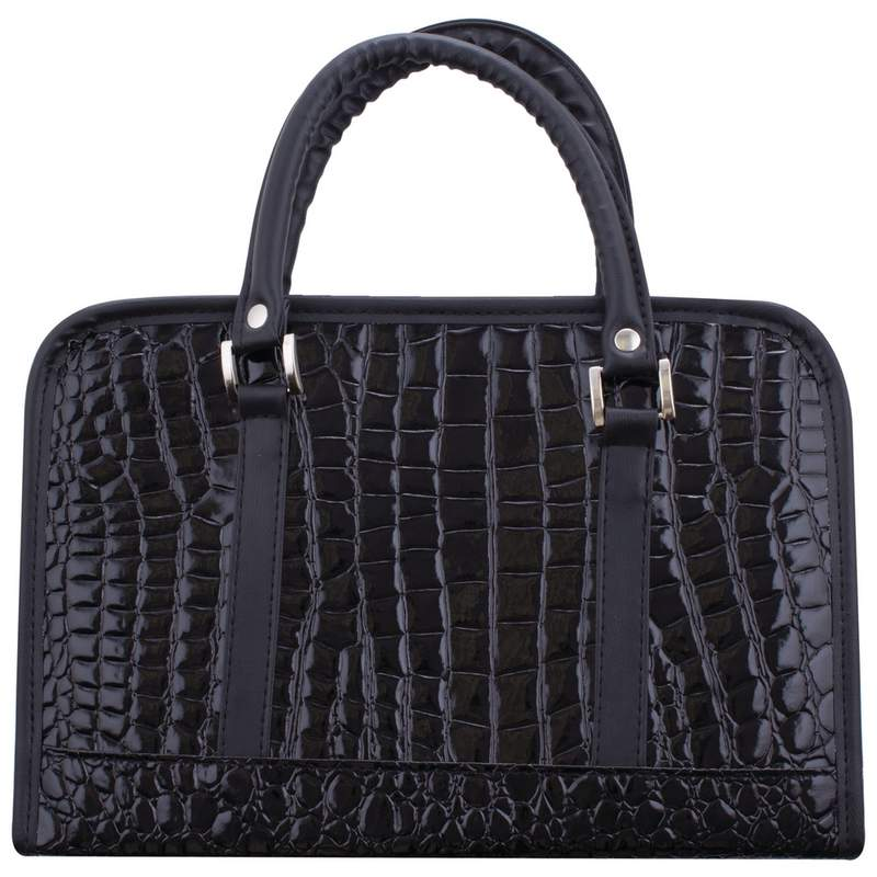 Gigi Chantal™ Black Faux Alligator Bible Cover