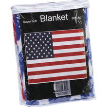 Load image into Gallery viewer, United States Flag Print Fleece Throw