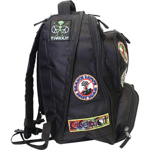 "Be A Rebel™ 17"" Hippie Backpack with 15 Patches"