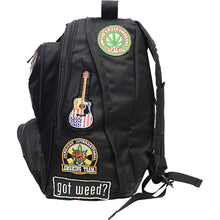 "Load image into Gallery viewer, Be A Rebel™ 17"" Hippie Backpack with 15 Patches"