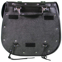 Load image into Gallery viewer, Diamond Plate™ 2pc Heavy-Duty Waterproof PVC with Studs Motorcycle Saddlebag Set