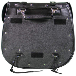 Diamond Plate™ 2pc Heavy-Duty Waterproof PVC with Studs Motorcycle Saddlebag Set