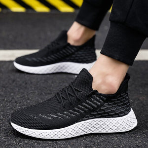 Lace Up Shoes Men Breathable Lightwight Sneakers