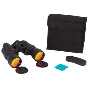 Magnacraft® 10x50 Binoculars with Ruby Red Coated Lenses for Glare Reduction