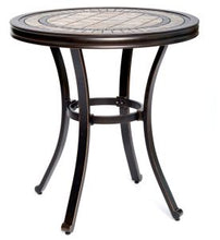 "Load image into Gallery viewer, Handmade Dining Table Contemporary Round a Tile-Top Design with Heavy-Duty Aluminum Frame 28"" Dia x 28.6"" Height"