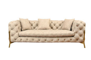 LANLINCO Leathaire Oversized Sofa Couch with Italian Extravagancy Style for Living Room