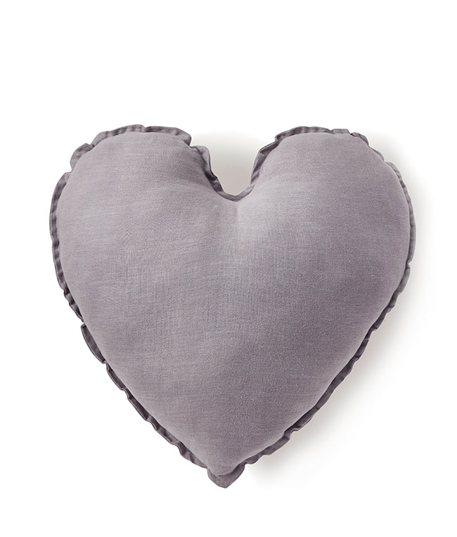 Heart Cushion - Dove Grey