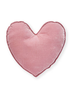 Velvet Heart Cushion - Pink