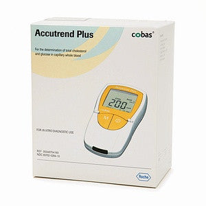 ACCUTREND PLUS TESTS MONITOR FOR GLUCOSE AND TOTAL CHOLESTEROL