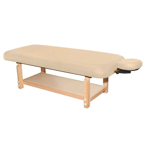 "TERRA FLAT TREATMENT TABLE 30"" WIDE BEIGE/BLACK"
