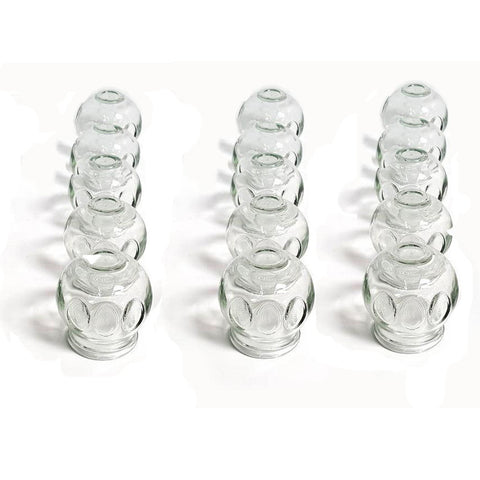 FIRE GLASS CUPPING SET - LARGE(15PCS)