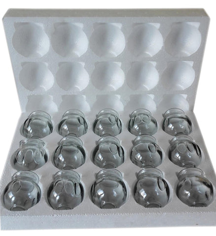 FIRE GLASS CUPPING SET - XLARGE(15PCS)
