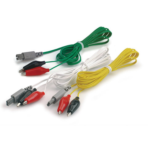 LEAD ALLIGATOR CLIP WIRES WITH RECTANGULAR JACK FOR ES130