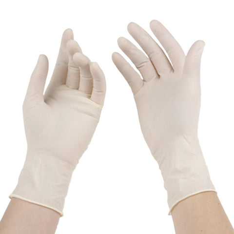 LATEX EXAM GLOVES POWDER FREE