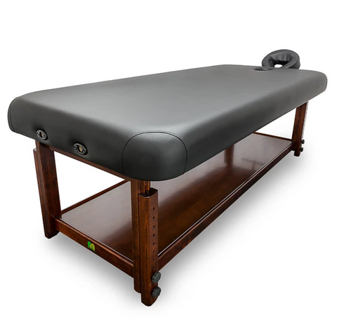 ADJUSTABLE WOODEN FRAME TREATMENT TABLE