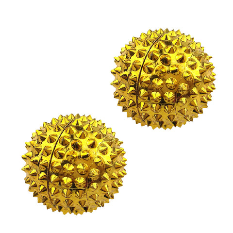 2 MAGNETIC HAND MASSAGE BALLS - GOLD