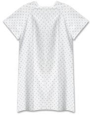 CLOTH PATIENT GOWN - WHITE
