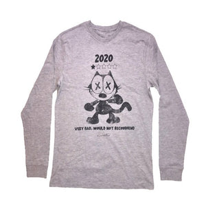 2020 Cat Review Bear Long Sleeve Tee (Grey)