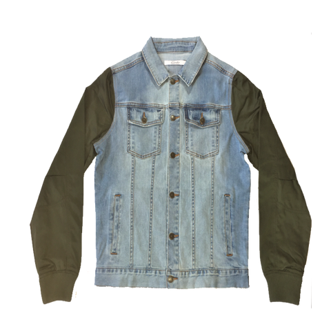 Pacific Jean Jacket (Denim/Olive)