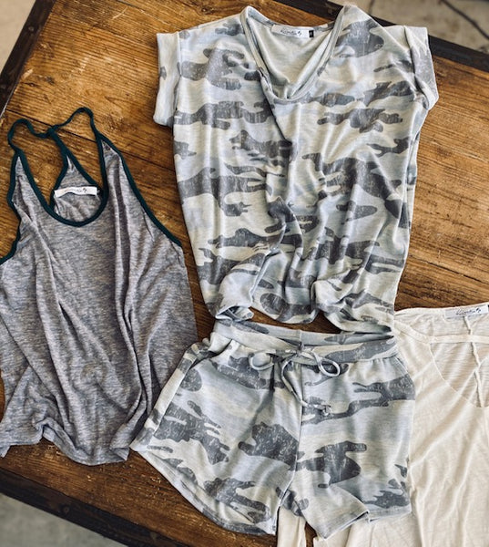 Women's Casual Camouflage Tank