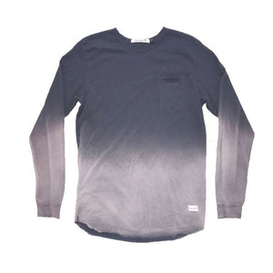 Cantata Slit Pocket Long Sleeve (Charcoal Dip Dye)