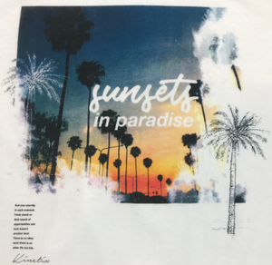 Sunset in Paradise (White)