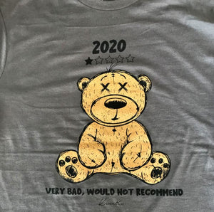 2020 Bad Review Bear Long Sleeve Tee (Charcoal)
