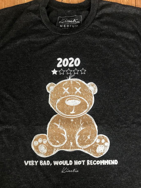 2020 Bad Review Bear Tee (Vintage Black)