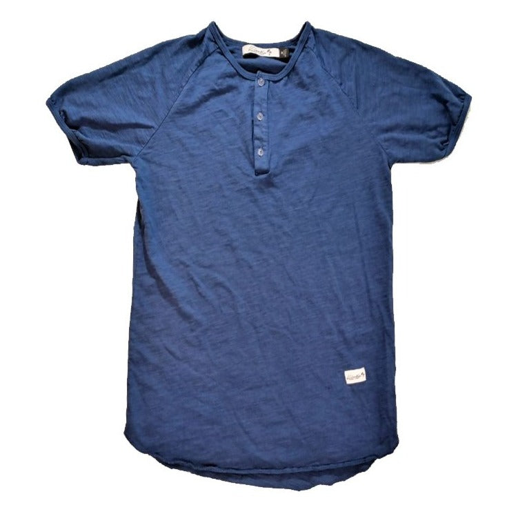 Omura Beach Henley Fashion Tee (Navy)