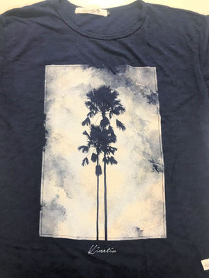 Cloudy Palm (Navy)