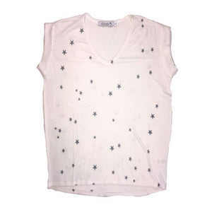 Stars tank tee and shorts (White/Grey)
