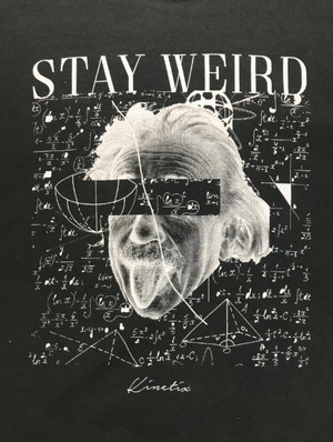 Stay Weird Crew Sweater (Charcoal)