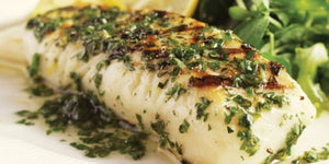 Baked Halibut with Pesto, Zucchini and Carrots Recipe