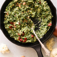 Paleo creamed spinach with bacon recipe